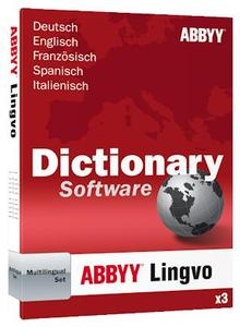 ABBYY Lingvo x3 Multilingual-Set EN/DE/ES/ IT/FR,  Windows, (Article no. 90420637) - Picture #1