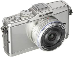 Olympus PEN E-P3 17mm Pancake Kit silber (Article no. 90422213) - Picture #2