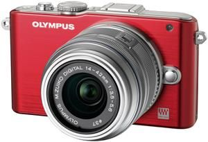 Olympus PEN E-PL3 Kit Double Zoom Kit rot/silber (Article no. 90426227) - Picture #1