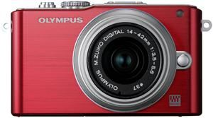 Olympus PEN E-PL3 Kit Double Zoom Kit rot/silber (Article no. 90426227) - Picture #2