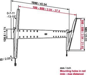 Vogels PHW 200 XL Wandhalterung schwarz (Article no. 90430294) - Picture #2