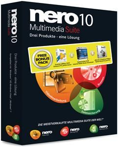 Nero 10 Suite + Bonus Pack Windows, multilingual, 1 Benutzer (Article no. 90433495) - Picture #1