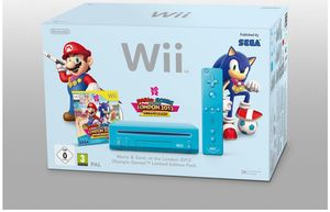 Nintendo Wii Limited Edition Mario & Sonic Pack blau (Article no. 90434558) - Picture #1