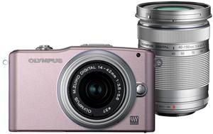 Olympus Pen E-PM1 silber-rose Kit 14-42 + 40-150  , (Art.-Nr. 90439477) - Bild #1