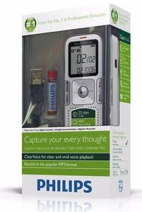 Philips Digital Voice Tracer DVT 615 hellweiss/platin-chrom,  miniUSB, 2GB, (Article no. 90446941) - Picture #4