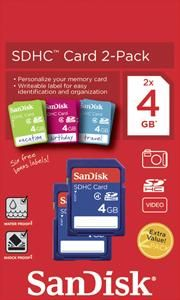 SanDisk SDHC 2-Pac 4GB (item no. 90450352) - Picture #1
