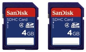 SanDisk SDHC 2-Pac 4GB (item no. 90450352) - Picture #3