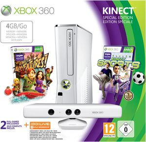 Microsoft Xbox 360 slim 4GB weiß Kinect + Kinect Sports Bundle Limitierte Edi (item no. 90455682) - Picture #1