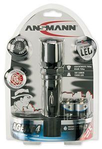 Ansmann Agent 4 Taschenlampe schwarz, (Article no. 90456589) - Picture #2