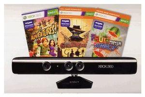 Microsoft Kinect Sensor inkl. 3 Spiele The Gunstringer, Kinect Adventures, (Art.-Nr. 90456782) - Bild #1