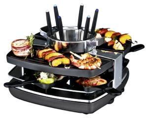 Gastroback 42559 Raclette-Fondue-Set schwarz (Art.-Nr. 90466935) - Bild #1