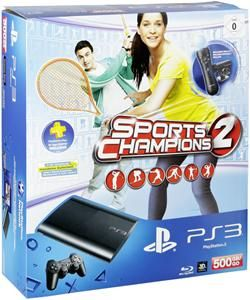 Sony PlayStation 3 SuperSlim 500 GB Move Starter Pack + Sports Champions 2 (Art.-Nr. 90486272) - Bild #1