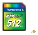 Transcend Multi Media Karte 512MB