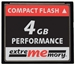 extrememory Compact Flash Karte 4GB