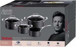 Tefal Jamie Oliver Professional Series Black Induction Set 7-tlg ...